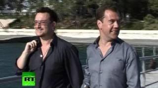 Rocking in Sochi: Medvedev hosts U2's Bono at Black Sea residence