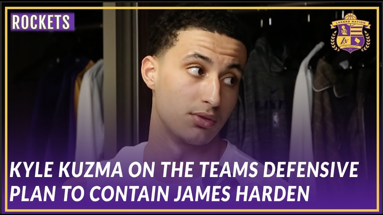 a499aa681 Lakers Post Game  Kyle Kuzma Talks About the Teams Approach to ...
