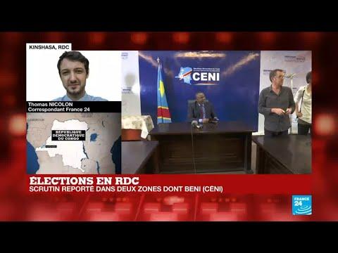 RD Congo : le scrutin n'aura pas lieu le 30 décembre à Beni, Butembo et Yumbi