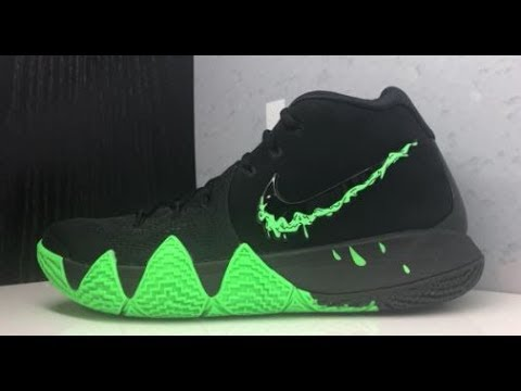 c6f405036234c NIKE KYRIE IRVING 4 HALLOWEEN SLIME SNEAKER REVIEW - YouTube