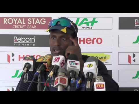 1st ODI Pre Match Press Conference with Angelo Mathews - Zimbabwe vs Sri Lanka