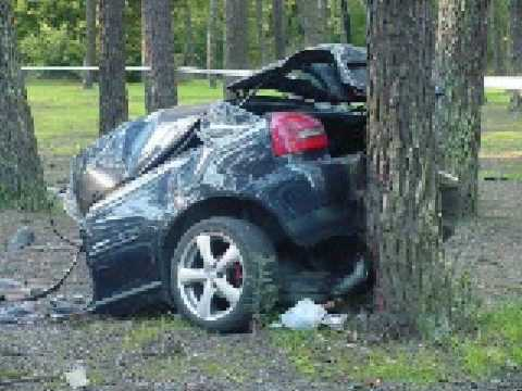 Car Crash Audi A3 1 8t I Think Smashed To Pieces Youtube