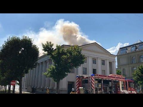 حريق مجهول السبب يلتهم كنيسة للروم الكاثوليك في جنيف  - 23:21-2018 / 7 / 19
