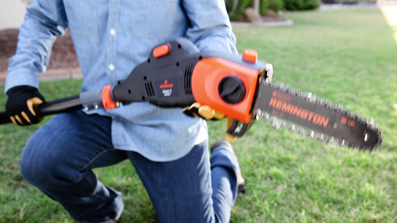 The Electric Pole Saw that Easily Converts to a Chainsaw