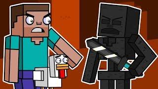 Skeleton Fortress Escape  Block Squad (Minecraft Animation)