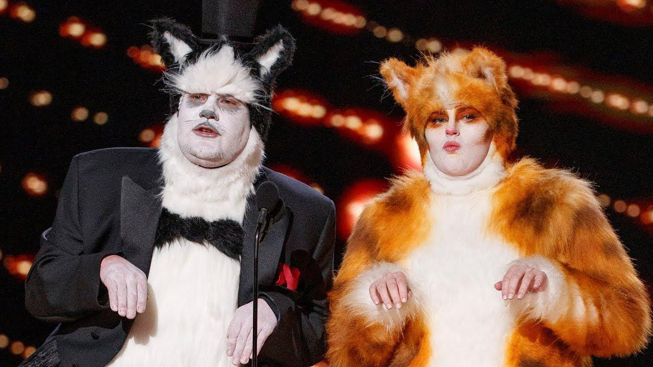 Image result for rebel wilson james corden oscars cats
