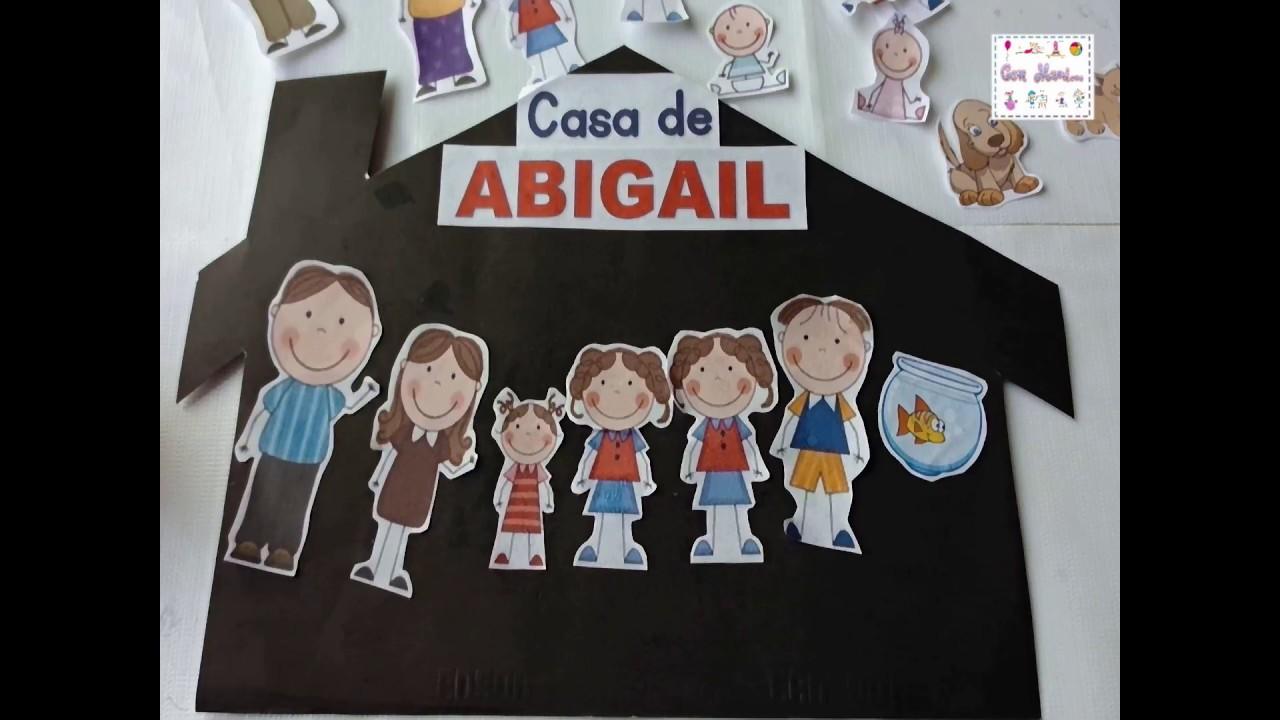 Actividad Sobre La Familia Para Niños De Preescolar
