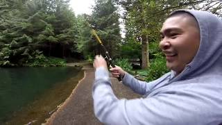 Trout Farm in Portland Oregon - Fishing with Friends