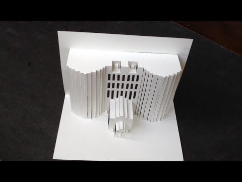3D Building Pop Up Paper Tutorial 2