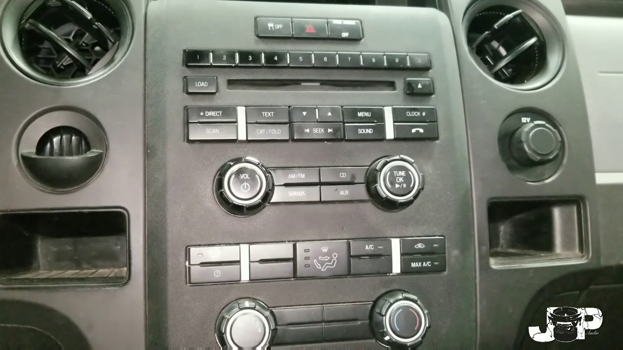 2012 Ford F150 Radio Removal Install Youtube 2004 F 150 Aux