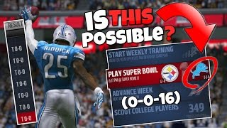 COULD YOU MAKE THE PLAYOFFS IF YOU TIED EVERY GAME?? (0-0-16) Madden 17 Mythbusters