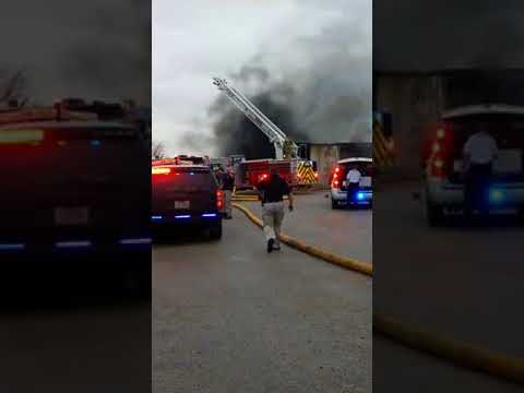 Raw video - Rockwall TX - McClain's RV Superstore commercial fire.