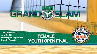 Female Final - YOUTH OPEN DIVISION - Toronto Grand Slam Beach Volleyball thumbnail