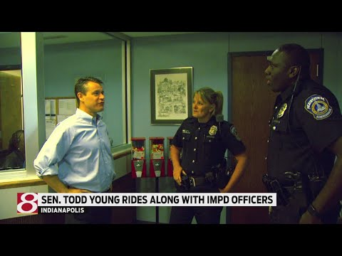 Sen. Todd Young rides along with IMPD officers