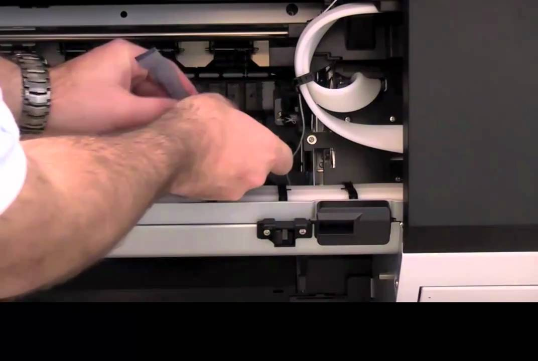 Epson 9900 Printer Setup - Removing Packing Material and Connecting the  Power Cord