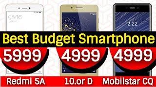 Best Budget Smartphone Under 6000 | Xiaomi Redmi 5A vs 10.or D vs Mobiistar CQ | Data Dock