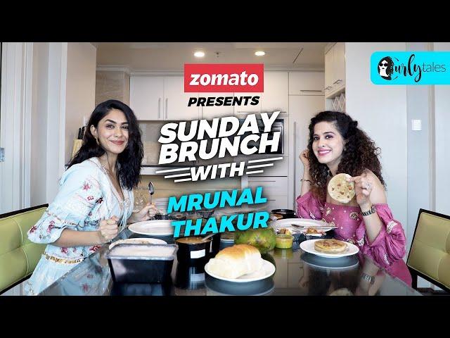 Sunday Brunch With Zomato Ft. Mrunal Thakur X Kamiya Jani | Curly Tales