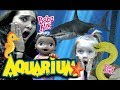 BABY ALIVE at the AQUARIUM! SHARKS n SEA STARS! The Lilly and Mommy Show. The TOYTASTIC Sisters