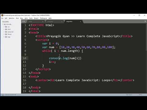Complete JavaScript Tutorial JavaScript Loops, while, do while and for loop in Hindi Part6 thumbnail