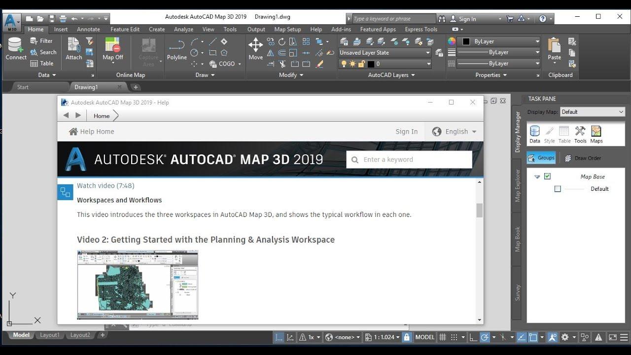 Full Installation Autodesk AutoCAD Map 3D 2019