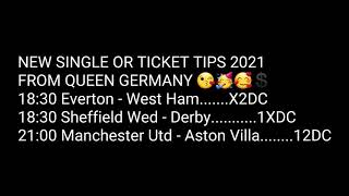 Football Betting Tips 01 01 2021 QUEEN GERMANY