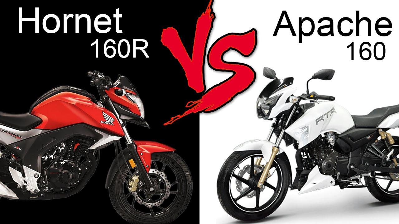 Honda Cb Hornet 160r Vs Tvs Apache Rtr 160 Comparison Review