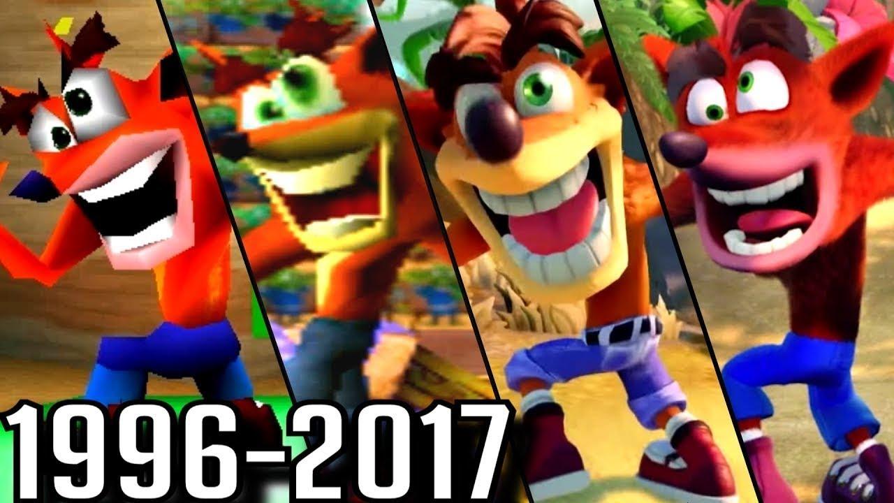 Evolución de Crash Bandicoot 1996/2017