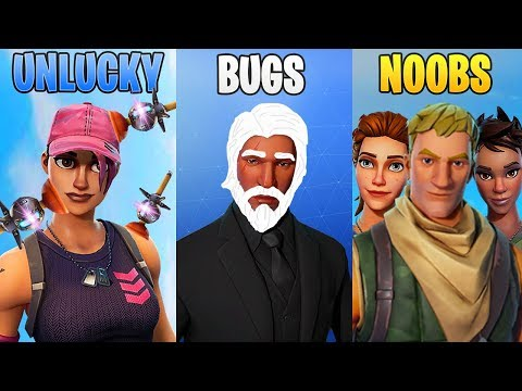 UNLUCKY vs BUGS vs NOOBS! Fortnite Battle Royale Funny Moments