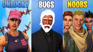 UNLUCKY vs BUGS vs NOOBS! Fortnite Battle Royale Funny Moments