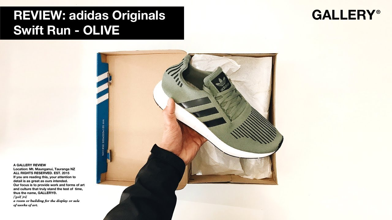 REVIEW – ADIDAS ORIGINALS SWIFT RUN  OLIVE  - YouTube 45c2247653859