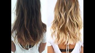 Балаяж на русые волосы фото