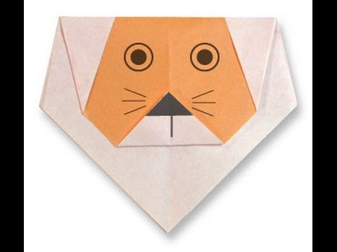 How To Make Origami Lion Face