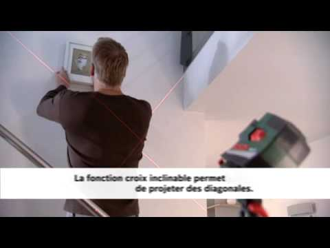 niveau laser en croix bosch pcl 20 avec fonction niveau vertical youtube. Black Bedroom Furniture Sets. Home Design Ideas