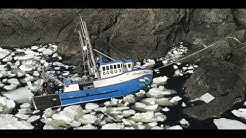Thick Arctic Sea Ice Pack Traps Global Warming Expedition & Fishing Vessels (395)