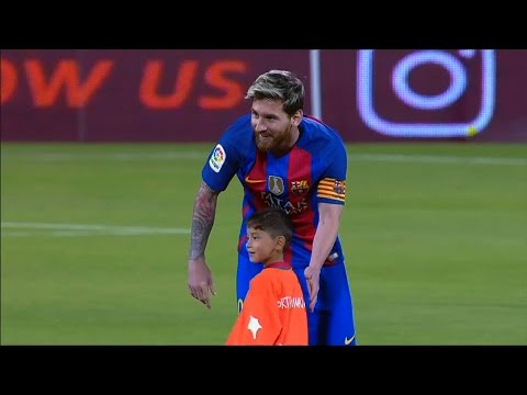 Messi Joined On Pitch By Afghan Boy As Barcelona Play In Qatar