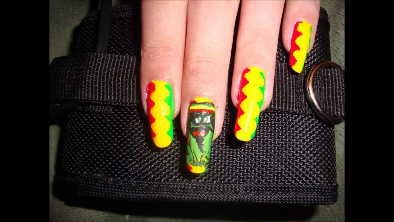 Rasta Frog Nails - YouTube