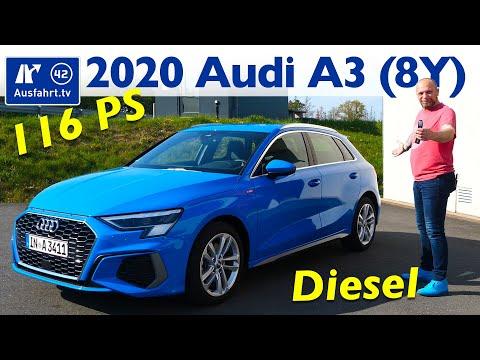 2020 Audi A3 Sportback S Line 30 TDI 8Y Kaufberatung, Test Deutsch, Review, Fahrbericht Ausfahrt.tv