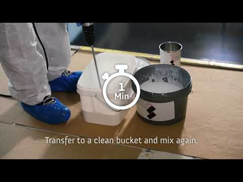 Sealing of expoxy resin floors - with Arturo EP7610 Sealer