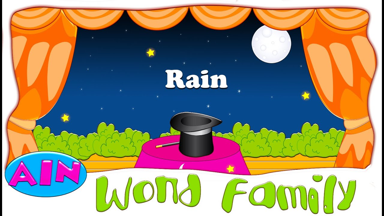 Worksheet Words Rhyming With Help rhyming word family with two vowels ai ain youtube
