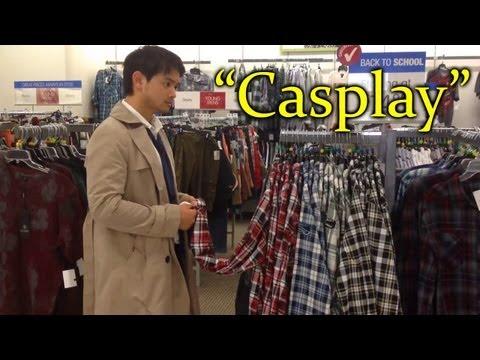 Osric Chau Kevin Cosplay do Castiel em shopping