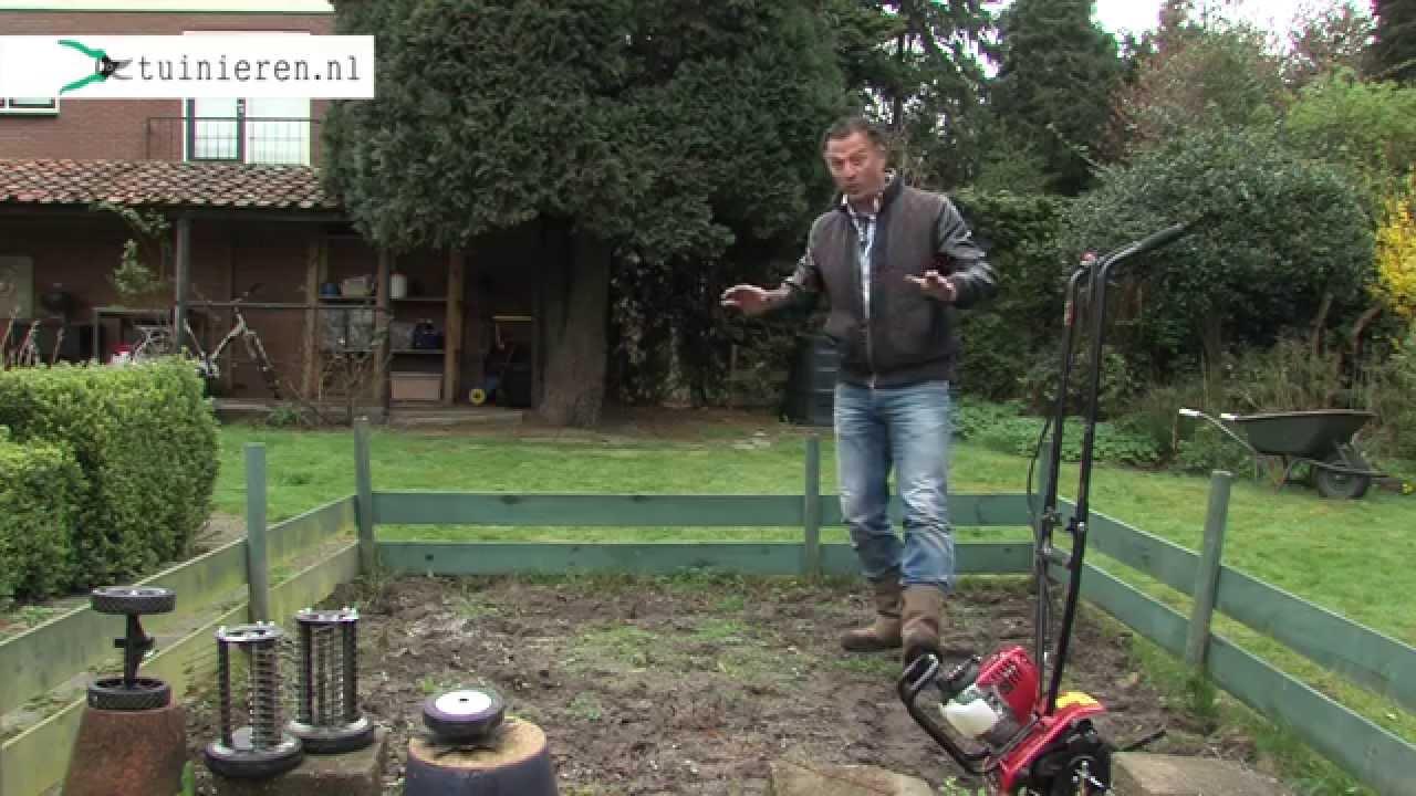 Tuin Omploegen Machine : Grond frezen tuin zaaiklaar maken met een tuinfrees tuinieren