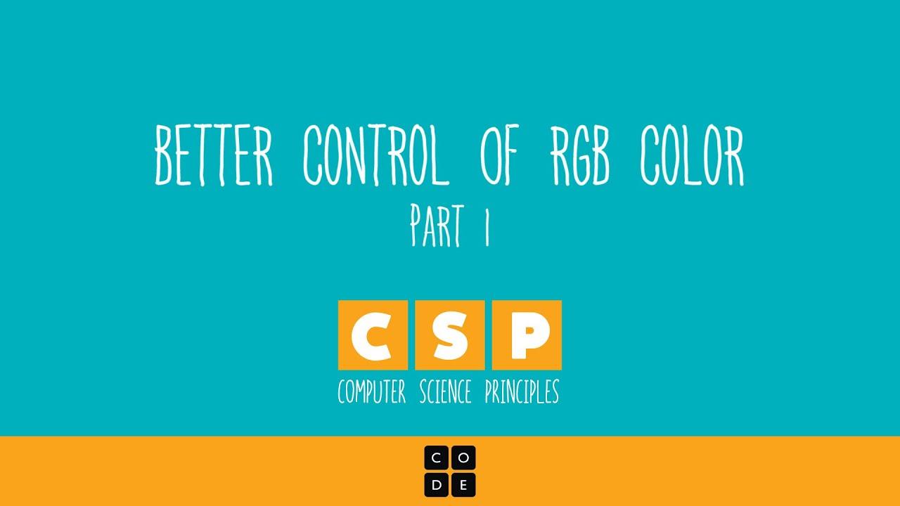 Code org - Pixelation: Color Pixelation Tutorial #1