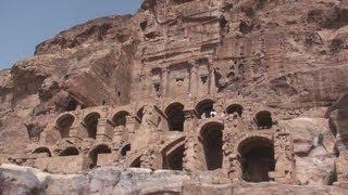 Exploring Tombs at Petra - Jordan