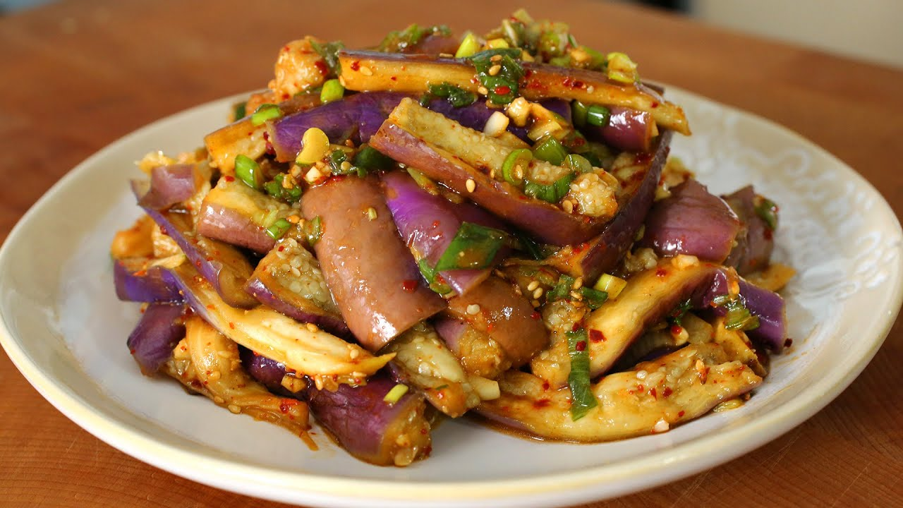 Eggplant Side Dish Gaji Namul Recipe Maangchi Com
