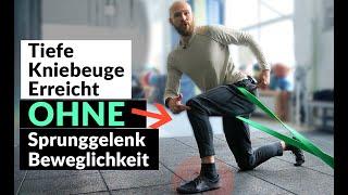 OHNE Sprunggelenk Beweglichkeit tiefer in Kniebeuge & Hocke ? So gehts!