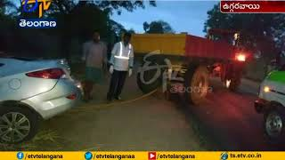Road Accident at Kamareddy | Car Hits Tree | 1 Dead | 1 Injured