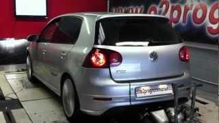 Test dyno VW golf 5 R32 stage 2 moteur (filtre bmc ligne pro-inox)  o2 programmation 255@287ch