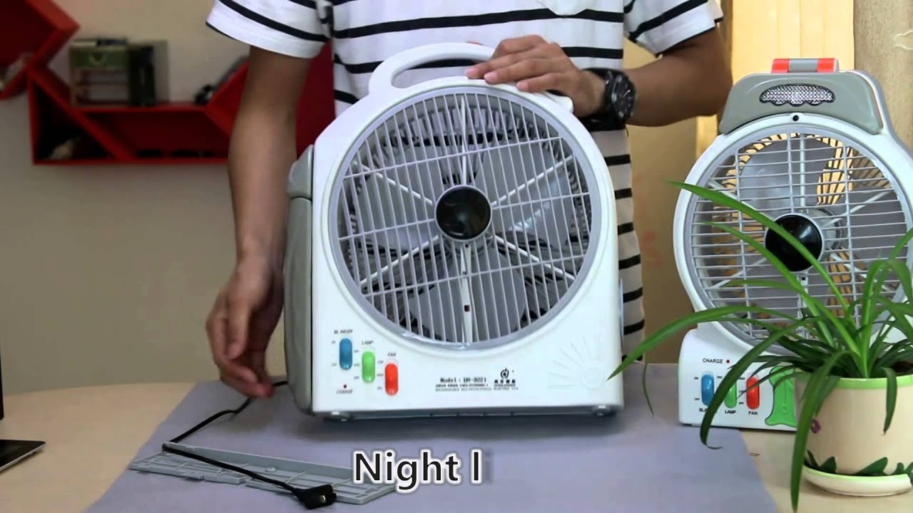 ac dc rechargeable emergency fan youtube. Black Bedroom Furniture Sets. Home Design Ideas