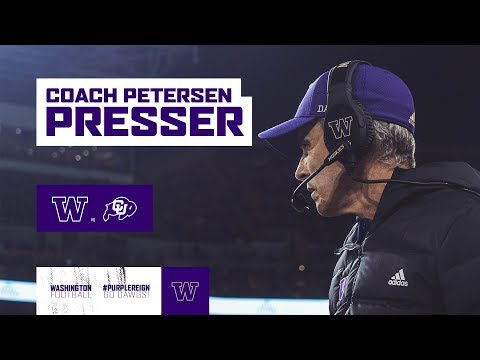 FB: Chris Petersen Press Conference (Colorado Week)