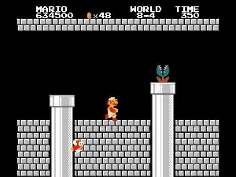 NES Classics: Super Mario Bros  World 8-4 Video Walkthrough